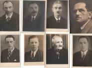 Bývalí divadelníci - Stanislav Jansa, Petr Faltejsek (truhlář), Karel Merta, Alexandr Hampl, Cyril Dušek, Josef Dušek, Jan Macháček (Cerátek), Karel Merta ml.